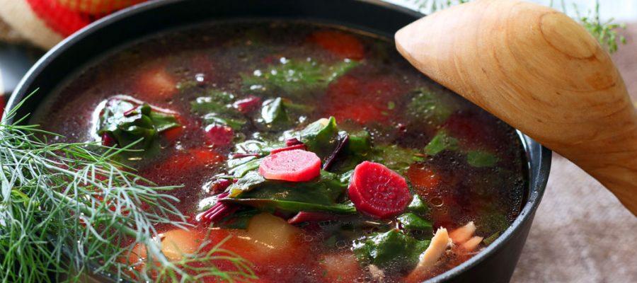 burokėlių lapų sriuba arba lapienė sumani virtuvė